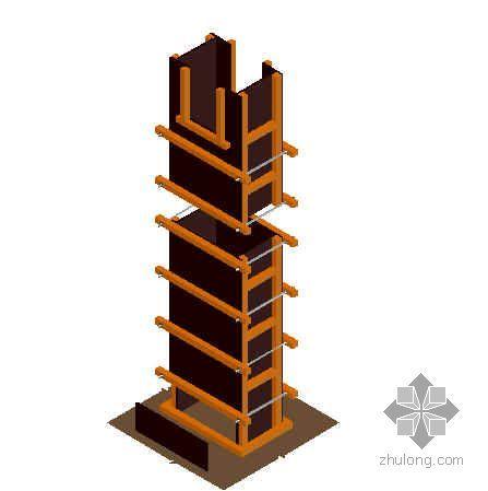 混凝土结构模板效果图(三维)