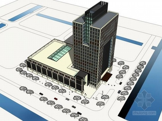[浙江]高层现代风格办公综合体建筑设计方案文本(含ppt)