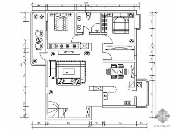 复式楼设计方案(含效果图)