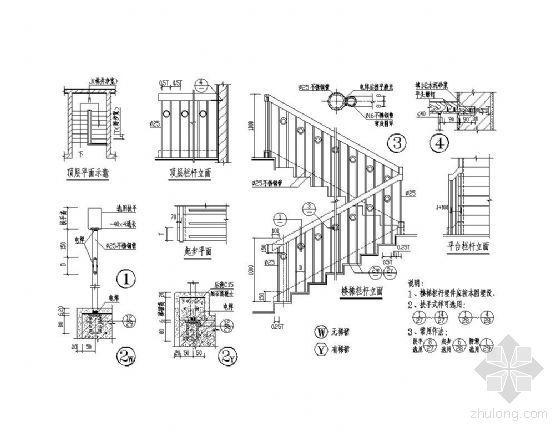 不锈钢楼梯栏杆详图Ⅰ