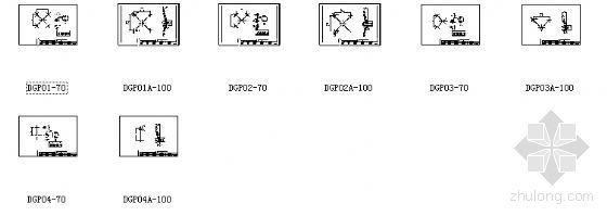 点式幕墙平爪系列节点详图