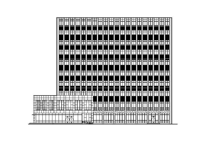 [浙江]高层玻璃幕墙多功能规划展览馆建筑施工图