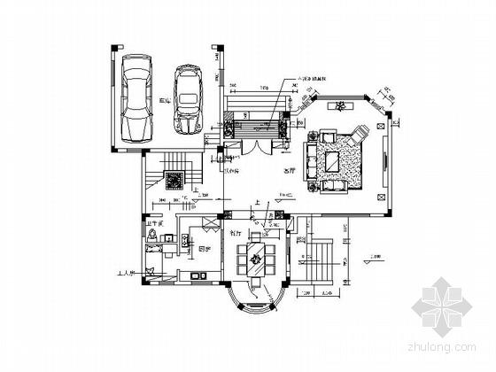 [广州]大气豪情豪宅区高档现代三层别墅装修施工图