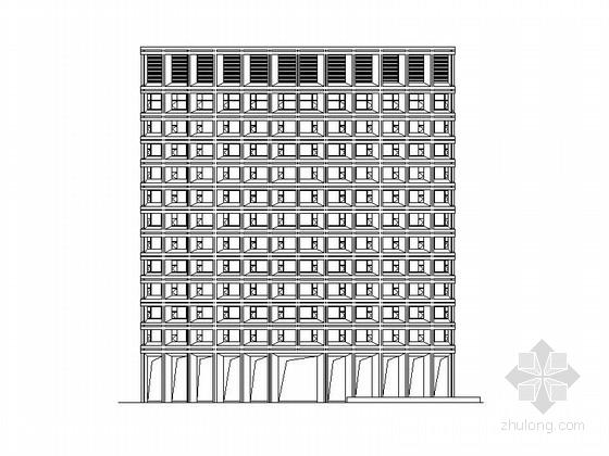 [浙江]十二层酒店及四层会议中心建筑施工图