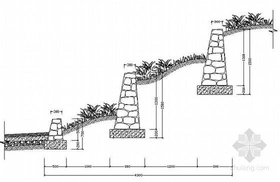 各种挡土墙做法CAD图纸28张