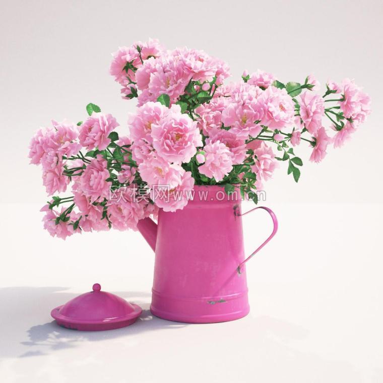 精美花卉植物 装饰景观花瓶