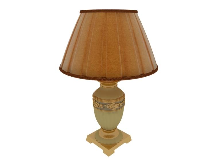 古典欧式台灯3D模型下载
