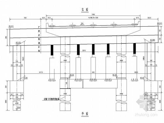 桥墩改造工程门架墩包盖梁构造图