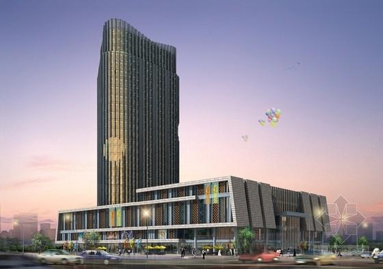 [浙江]高层玻璃幕墙大酒店建筑设计方案文本(2个方案)