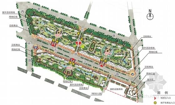 [陕西]现代绿色宜居高层安置住宅小区规划设计方案文本(含CAD)-现代绿色宜居高层安置住宅小区总平面图