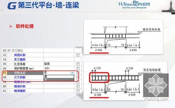 广联达第三代平台整体解决方案之中高级应用培训课件293页(软件算量计价定额规范讲解)-墙-连梁 软件处理