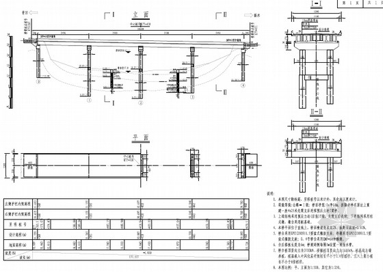 [云南]2016年设计4×25m先简支后连续预应力T梁桥施工图80张(含预算)