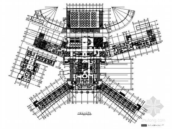 [福建]超完整白金五星级豪华气派现代风格商务度假酒店室内设计施工图(含方案效果)