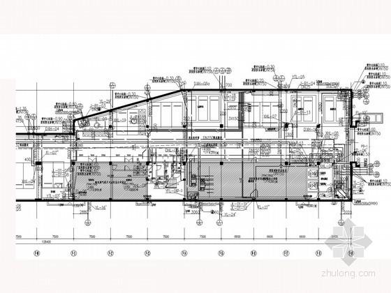 [贵州]商业步行街建筑给排水施工图(同层排水 气体消防)