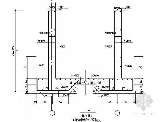 三层框架住宅坡道配筋图
