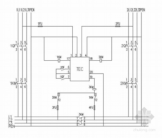 双电源切换装置工作原理图