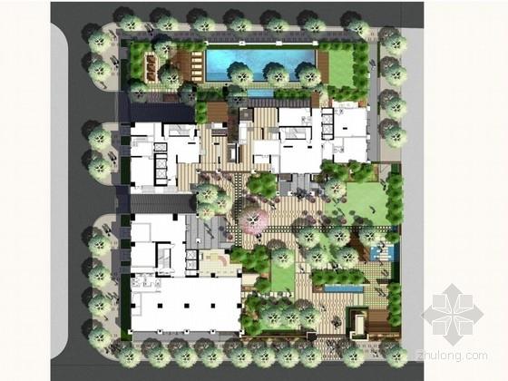 [广州]花园居住区庭院景观设计方案