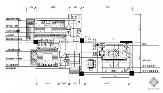 某跃层家居装修施工图