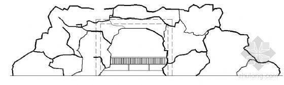 假山及水池和景桥施工图