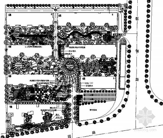 [济南]花园住宅区室外景观工程园建施工图