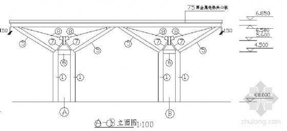某加油站网架结构图纸