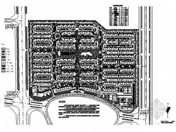 某17万平方米方形地块小区规划总平面