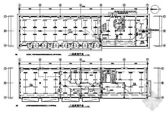 某二层办公楼全套电气图纸