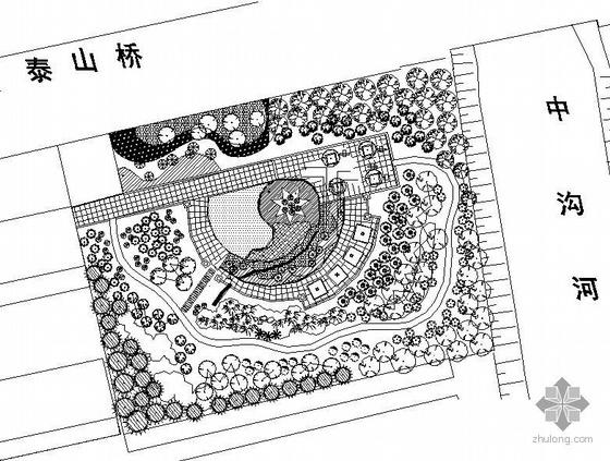 城市绿地小游园施工图