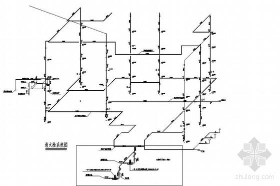 某大型商城自动喷淋平面及原理图