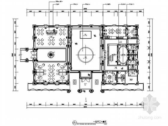 [原创]明亮鲜明售楼销售中心装修CAD施工图(含效果图,推荐下载)