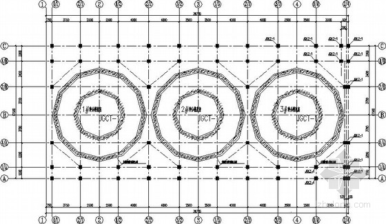 分槽、碳分槽及沉降槽基座加固结构施工图