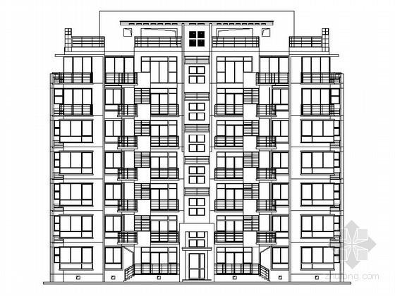 某七层板式住宅建筑扩初图