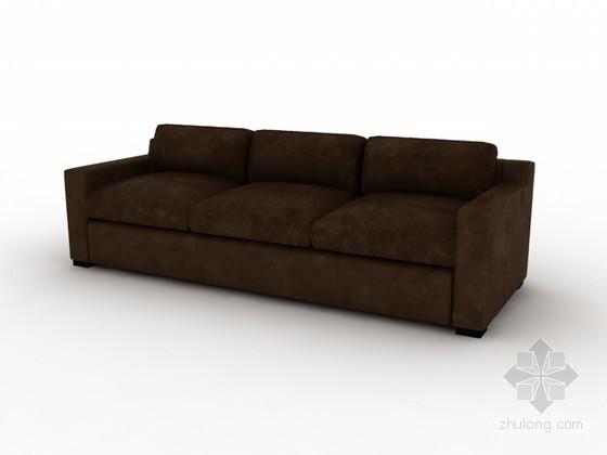 皮质沙发3d模型下载