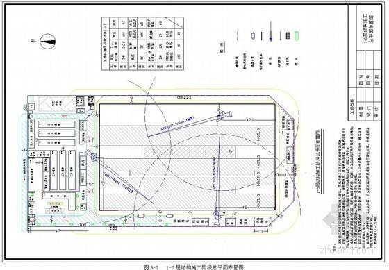 [广东]框剪结构大厦施工组织设计(平面布置图)