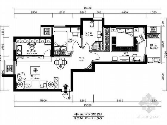 [杭州]两室两厅婚房室内装修图