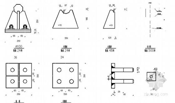 网架结构三面广告牌施工图