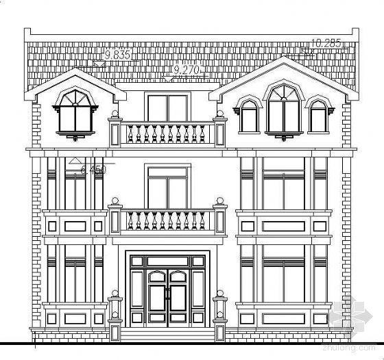 某三层豪华欧式别墅建筑施工图