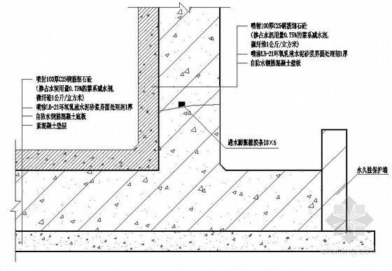 地下室背水面防水构造图