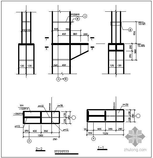 某单牛腿节点构造详图(一)