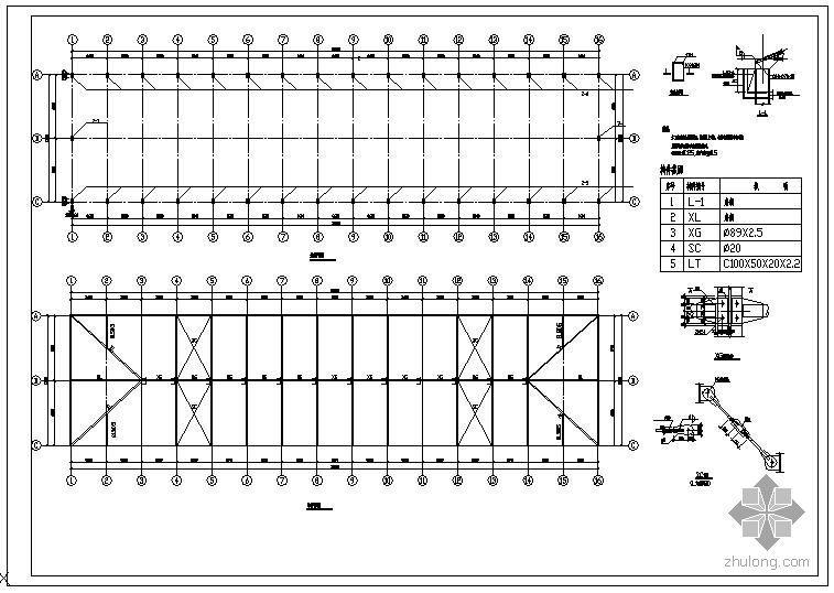 某彩钢屋面节点构造详图