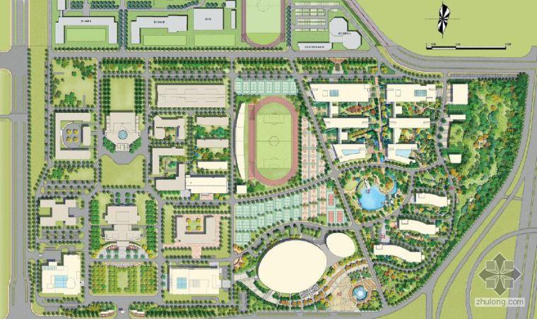 北京高校校园景观概念设计方案