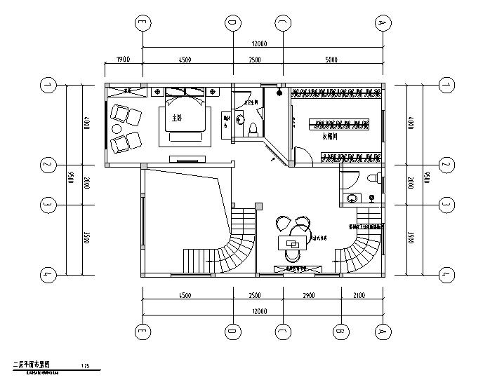 简约欧式风格两层别墅设计施工图(附效果图)图片
