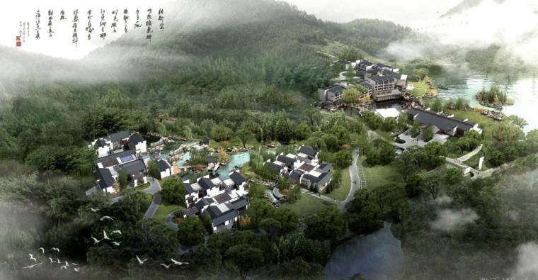 五星级新中式风格高层宾馆建筑设计方案文本