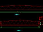玻璃屋面网架结构施工图