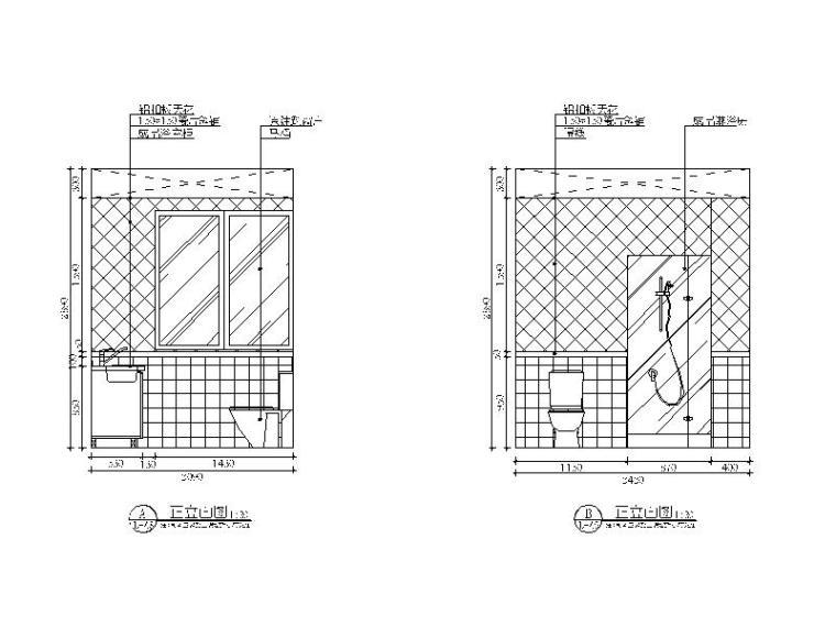 【贵州】地中海田园风格样板房设计CAD施工图(含效果图)_5