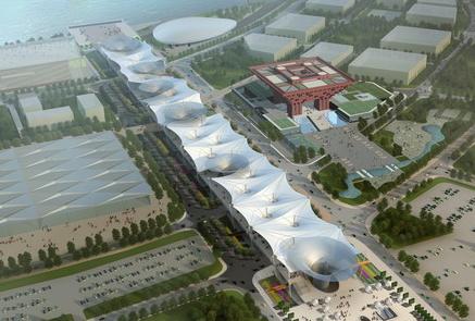膜结构建筑实例分析之上海世博轴