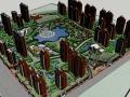 现代风格居住小区规划设计SU精模型