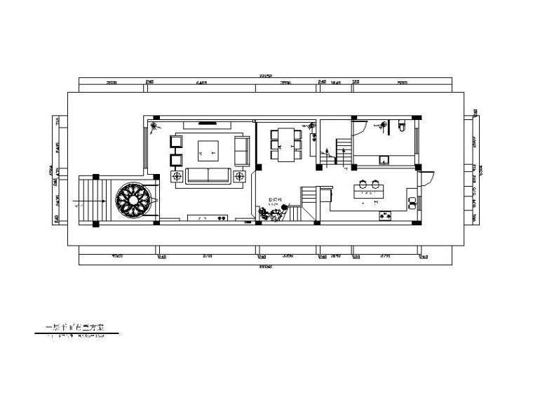 [江苏]现代极简风格别墅住宅CAD施工图(含效果图)