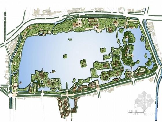 """[济南]""""城中湖""""风景名胜区改造设计方案"""
