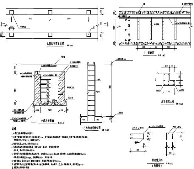 洛阳市城市主干路电缆沟工程施工图设计